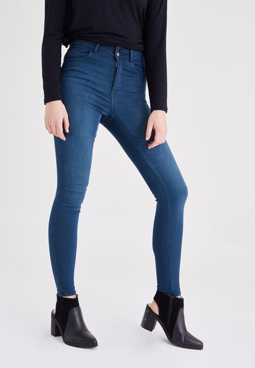 Yeşil Yüksek Bel Skinny Jean