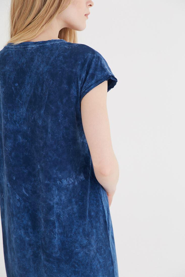 Bayan Mavi Püsküllü Elbise