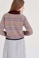 Bayan Çok Renkli Desenli Sweatshirt