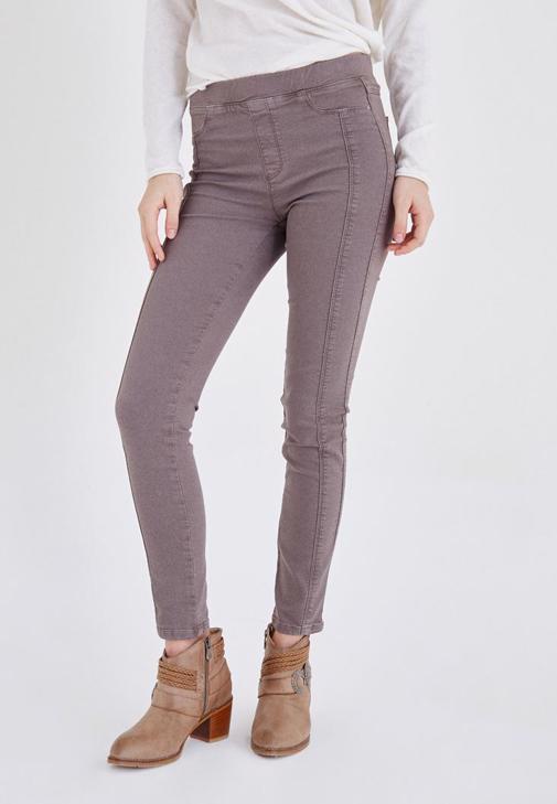 Kahverengi Düşük Bel Tayt Pantolon