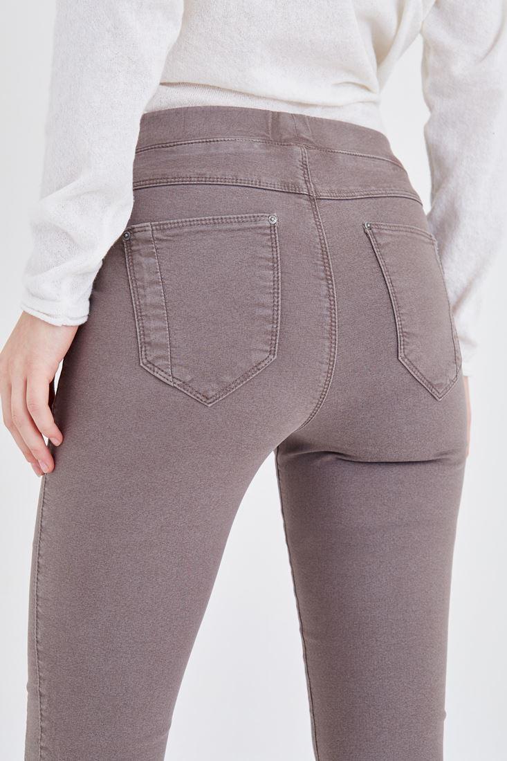 Bayan Gri Düşük Bel Tayt Pantolon