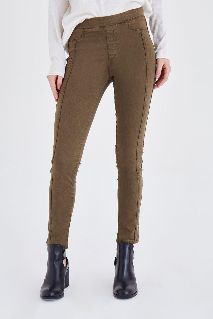 Bayan Yeşil Düşük Bel Tayt Pantolon