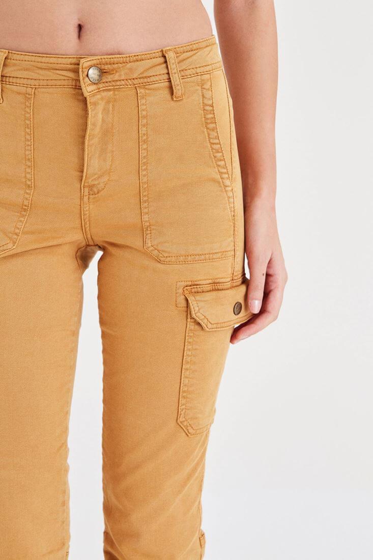 Bayan Turuncu Cep Detaylı Kargo Pantolon