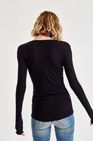 Bayan Siyah Uzun Kollu Basic Tişört