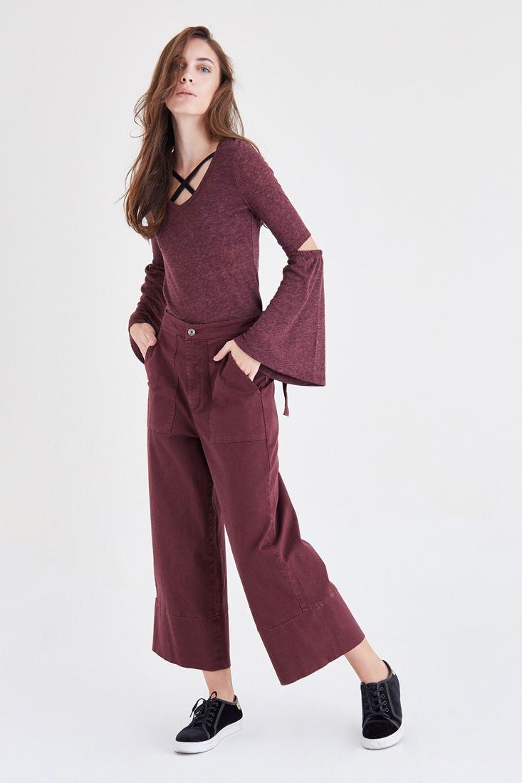 Dirsek Detaylı Bluz
