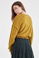 Bayan Sarı Kolları ve Beli Lastikli Bluz