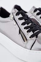 Bayan Gri Metalik Spor Ayakkabı