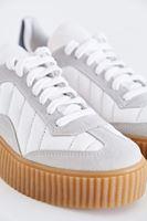 Bayan Beyaz Kalın Tabanlı Spor Ayakkabı