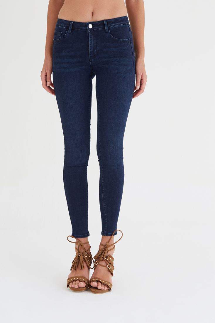 Normal Bel Esnek Skinny Jean