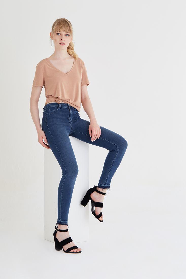 Blue Mid Rise Skinny Jean