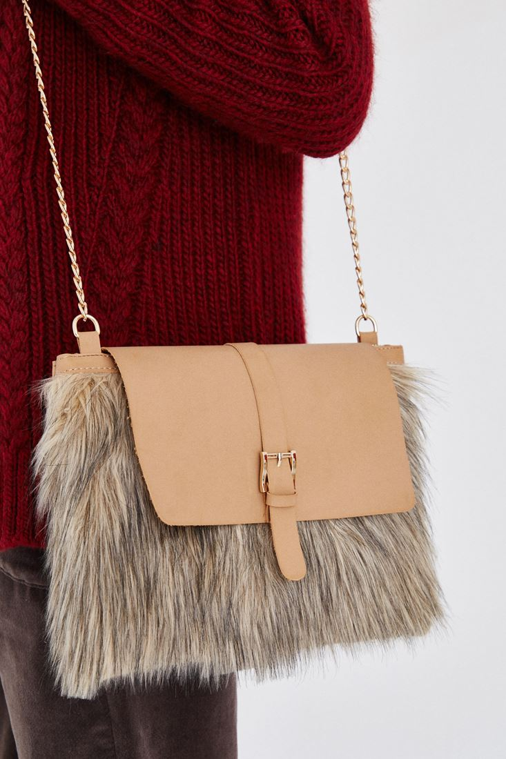 Brown Fur Bag