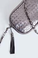 Bayan Gri Püskül Detaylı Askılı Çanta