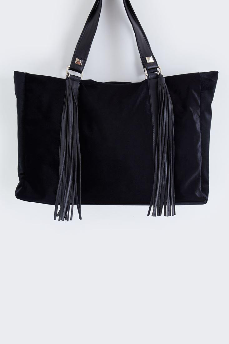 Bayan Siyah Kadife Çanta