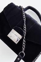Bayan Siyah Kadife Askılı Çanta