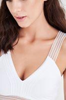 Bayan Beyaz Lastik Detaylı Bralet