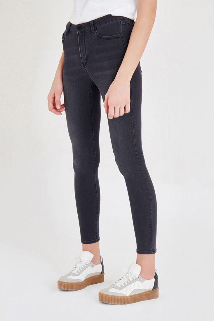Bayan Gri Normal Bel Dar Paça Pantolon