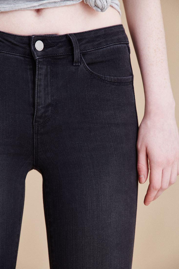 Bayan Siyah Normal Bel Dar Paça Pantolon