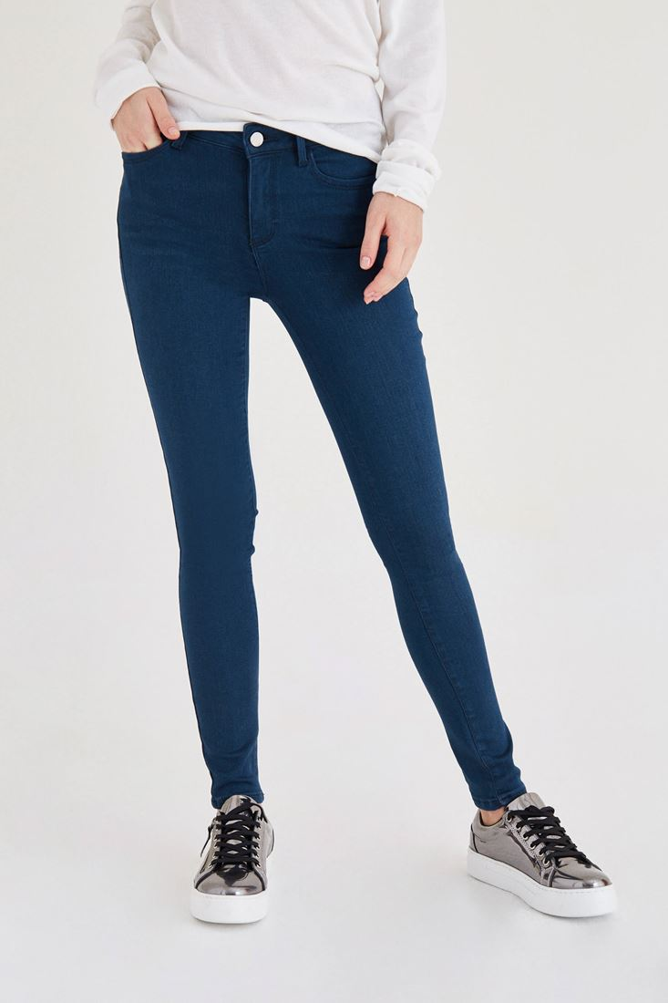 Yeşil Normal Bel Dar Paça Pantolon