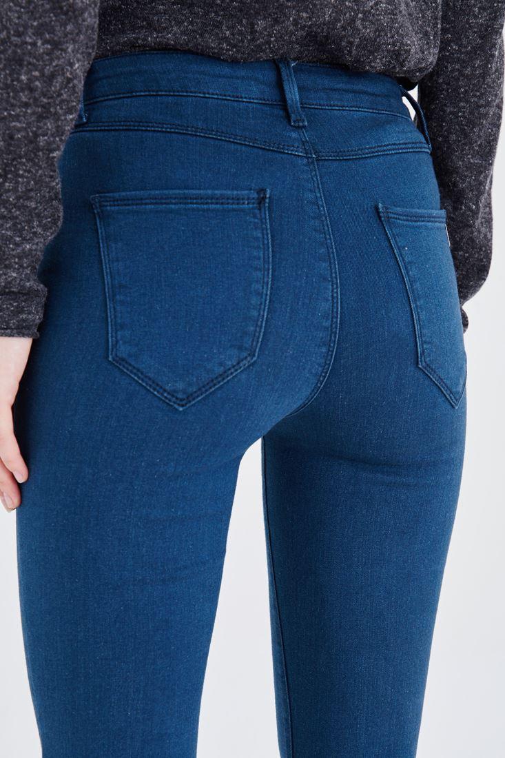 Bayan Yeşil Normal Bel Dar Paça Pantolon