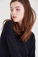 Bayan Siyah Kolları Bağcıklı Bluz
