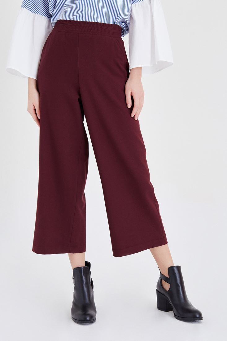 Bordeaux Culotte Pants