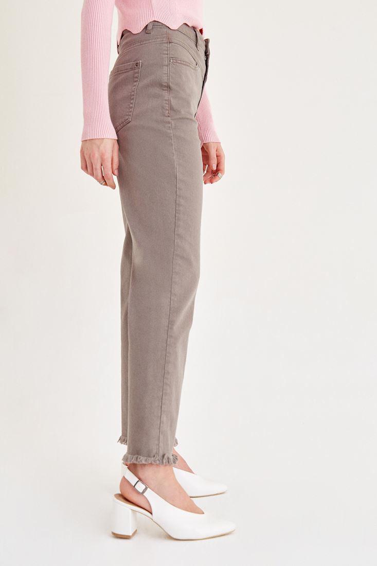 Bayan Gri Kısa Paçalı Pantolon