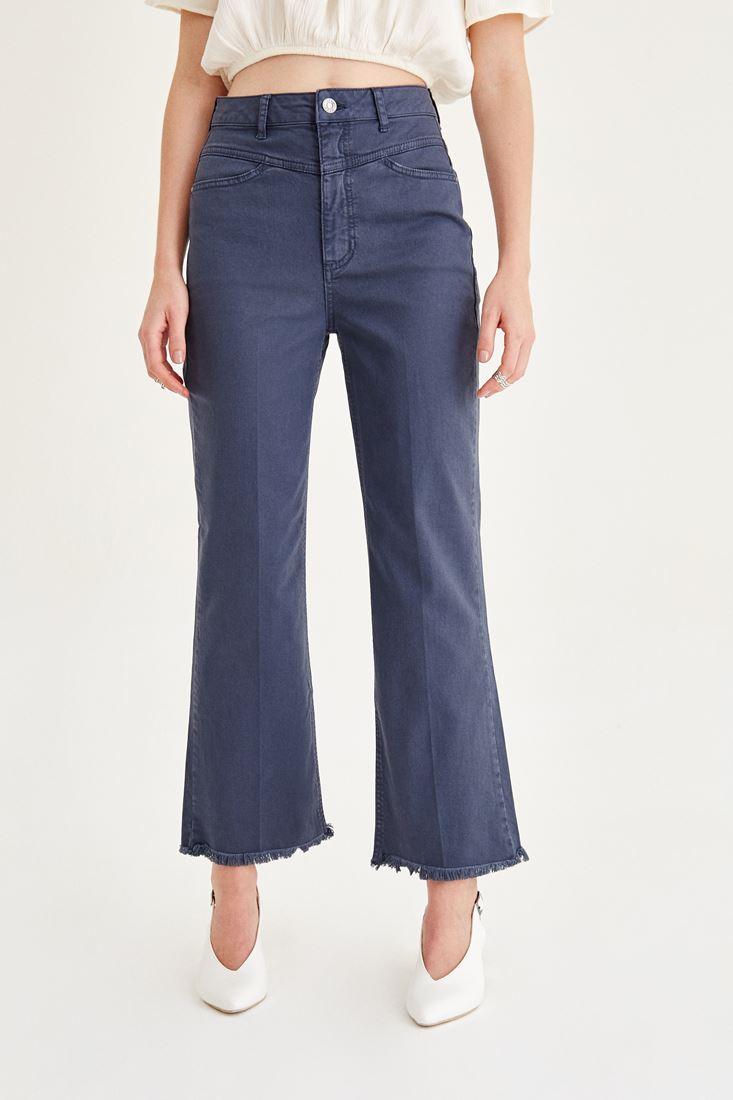 Gri Kısa Paçalı Pantolon
