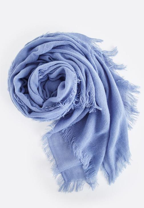 Mavi Düz Şal