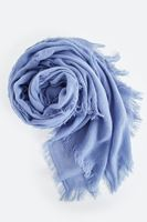 Bayan Mavi Düz Şal
