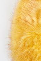 Bayan Sarı Kürk Yaka