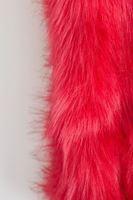 Bayan Pembe Kürk Boyunluk ve Saç Bandı