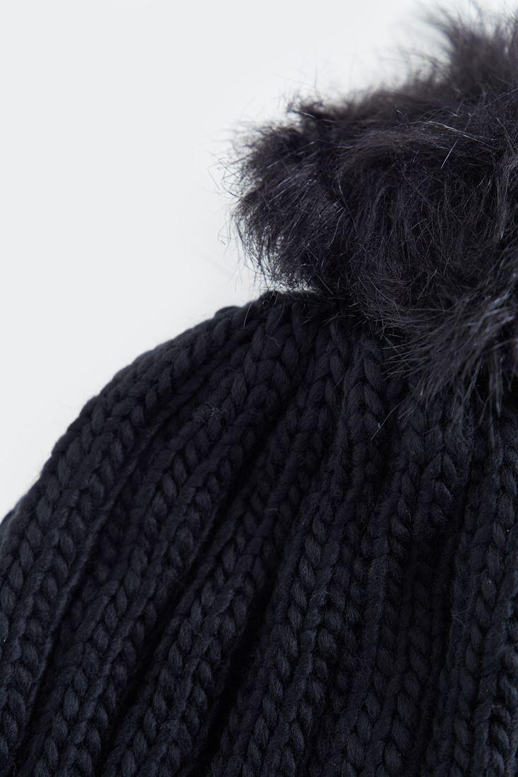 Bayan Siyah Ponponlu Bere