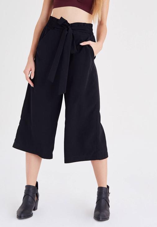 Siyah Culotte Pantolon