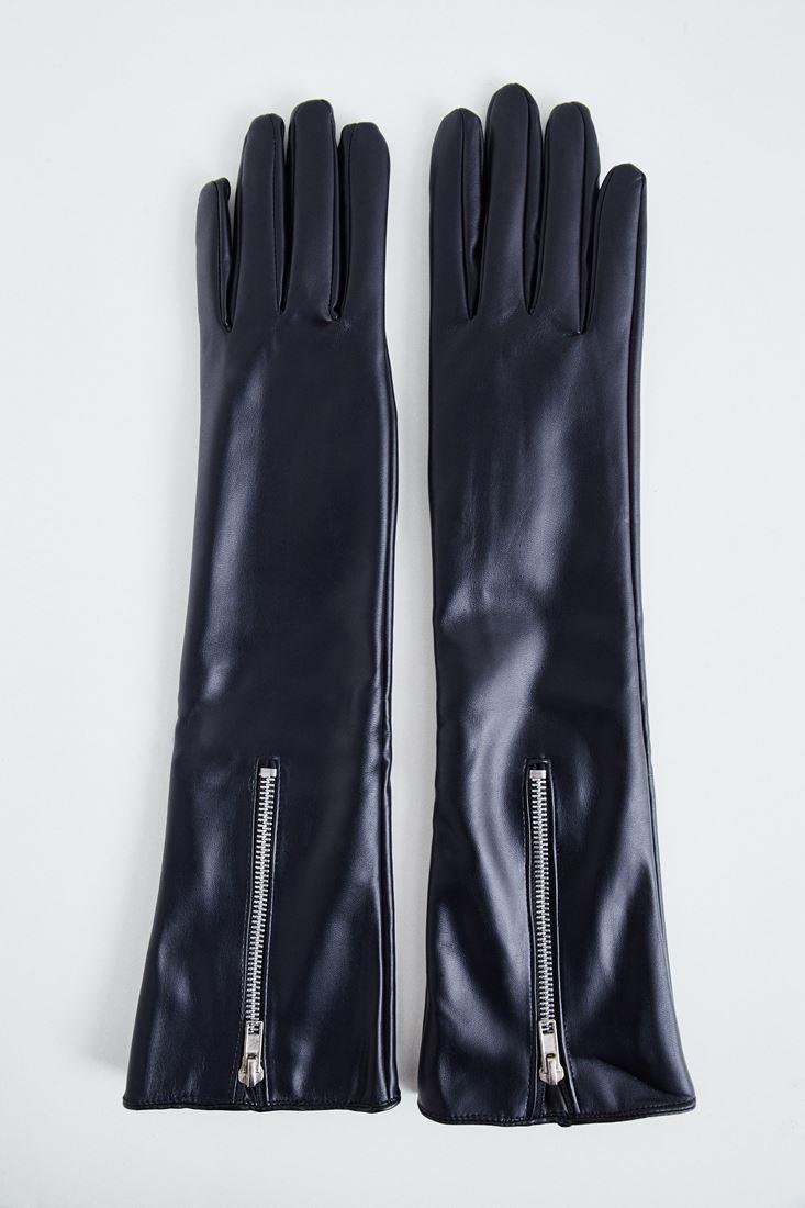 Bayan Siyah Uzun Eldiven