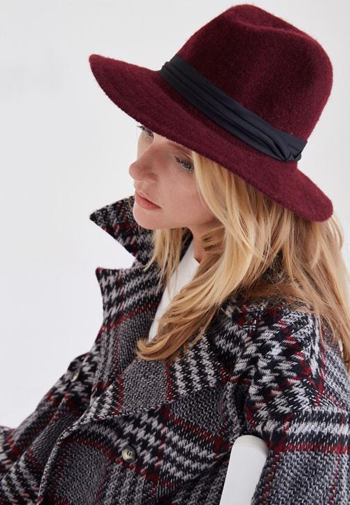Bordo Yün Şapka