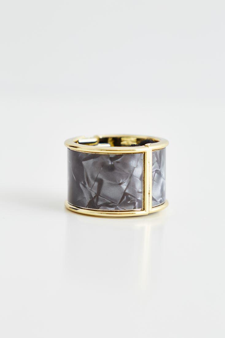 Bayan Gümüş Metal Detaylı Lastik Toka