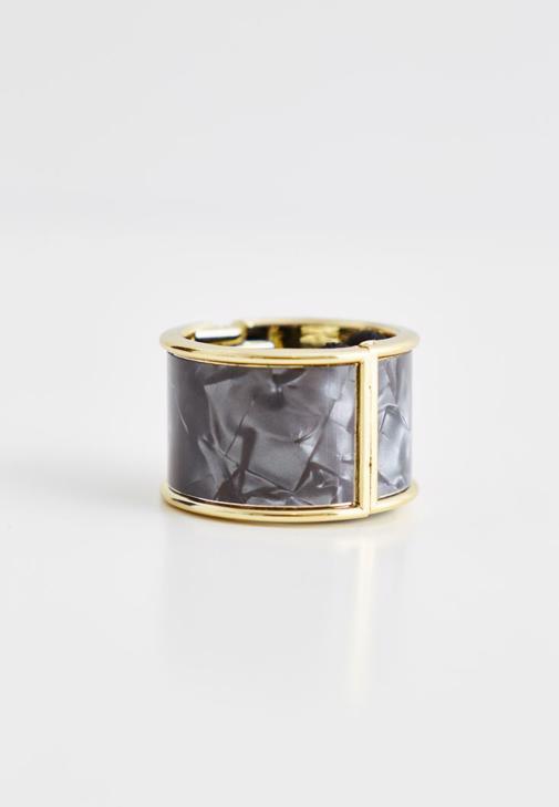 Gümüş Metal Detaylı Lastik Toka
