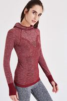 Bayan Bordo Kapüşonlu Spor Sweatshirt