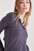Bayan Gümüş Pamuklu Gömlek