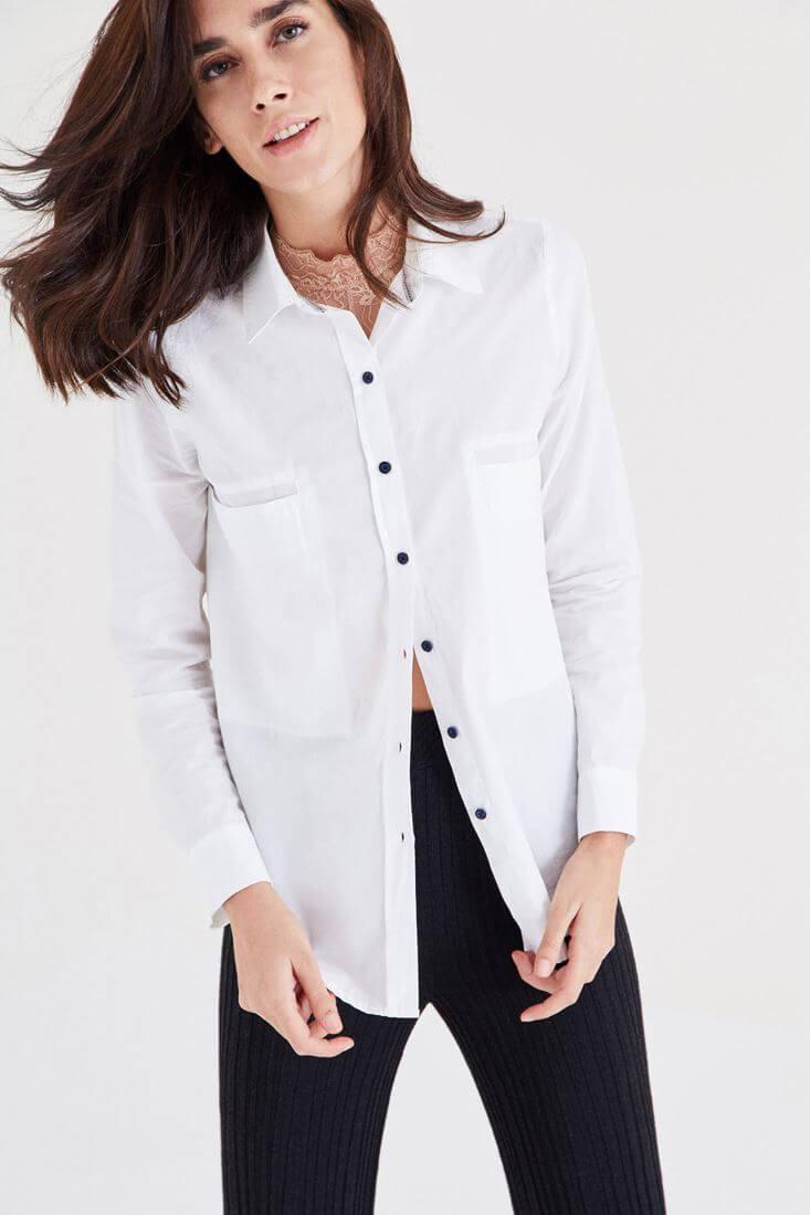 Bayan Beyaz Gömlek