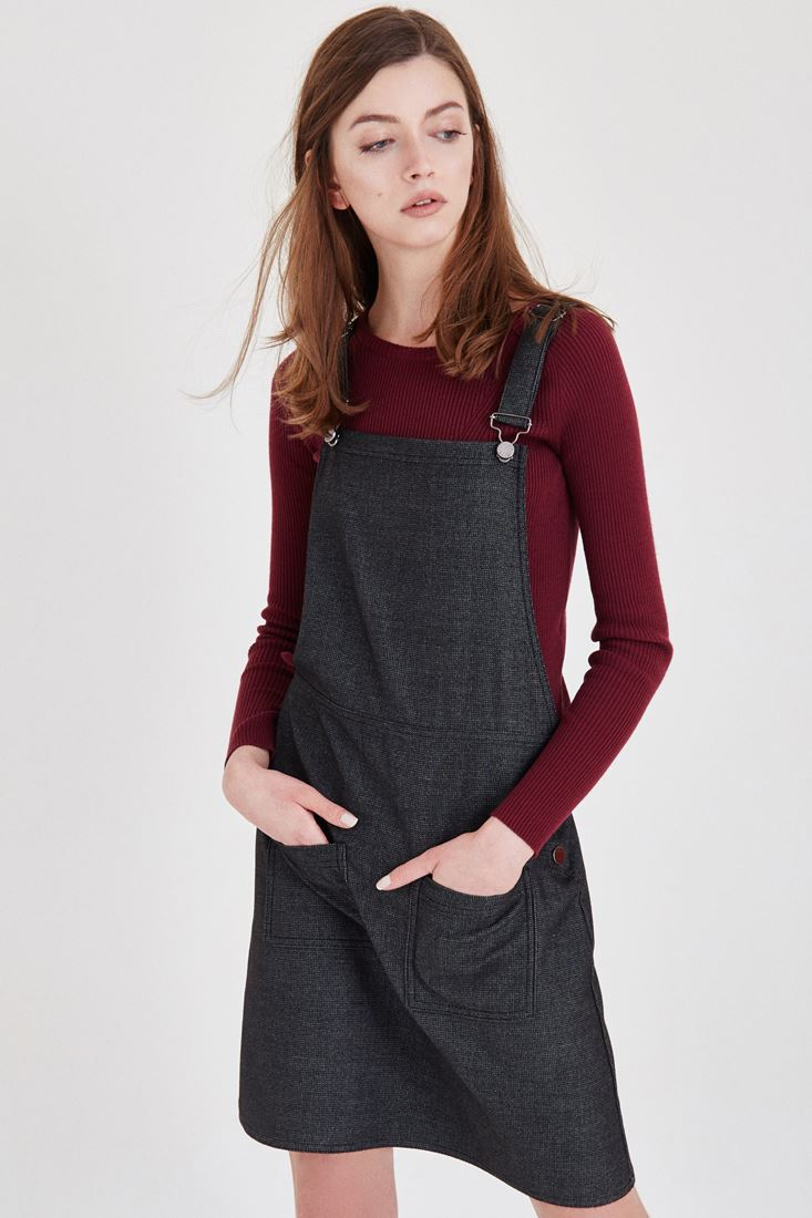 Gri Mini Elbise