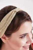 Bayan Altın Parlak Saç Bandı