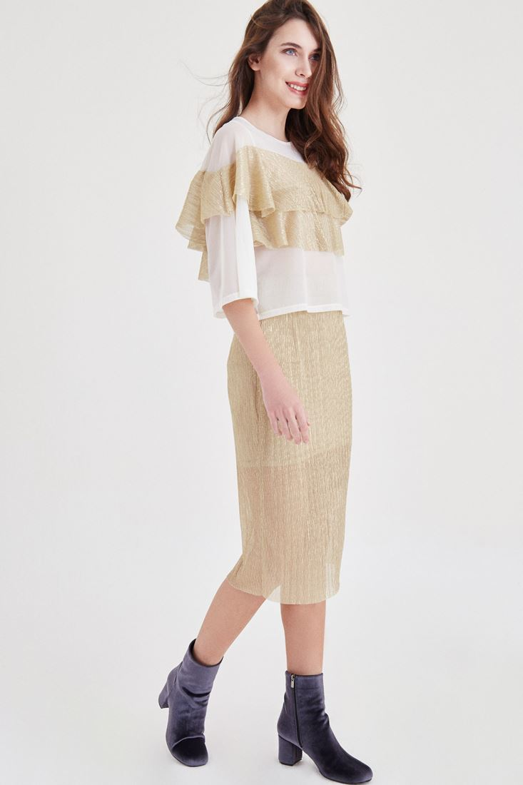 Gold Silvery Skirt