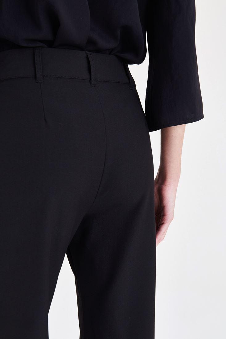 Bayan Siyah Fırfırlı Pantolon