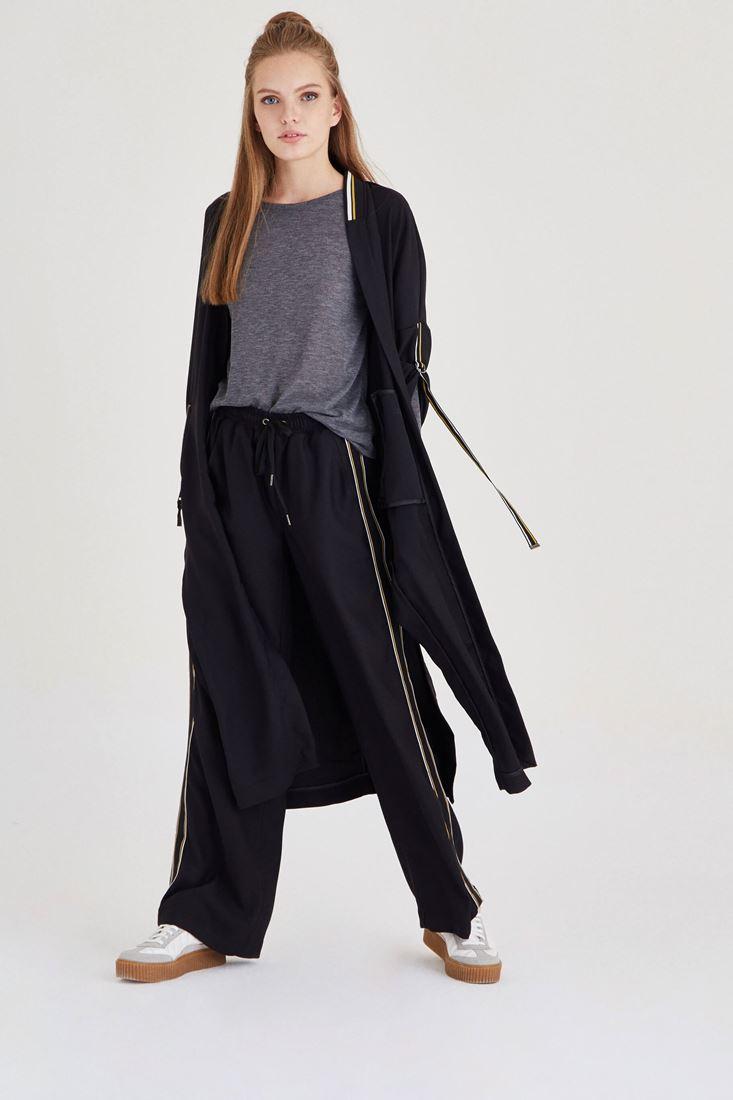 Bayan Siyah Bol Kesim Pantolon