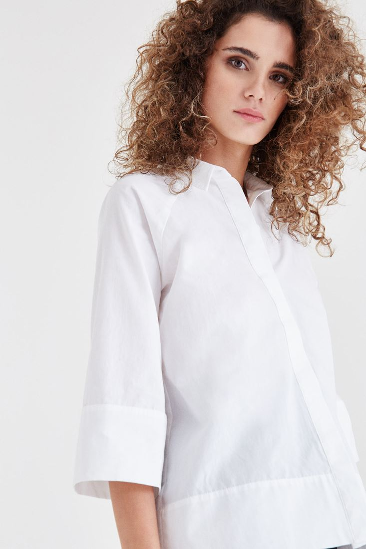 Beyaz Pamuk Gömlek