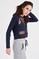 Bayan Lacivert Transparan Sweatshirt