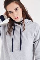 Bayan Gri Kapüşonlu Sweatshirt