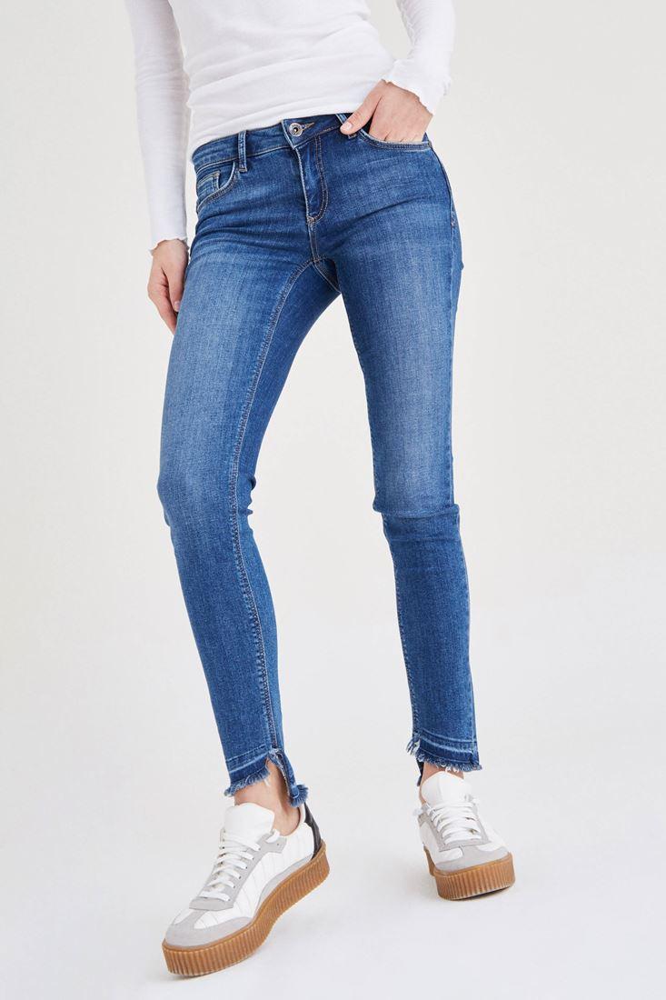 Düğmeli Düşük Bel Jean