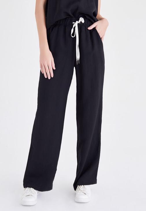 Siyah Saten Pantolon
